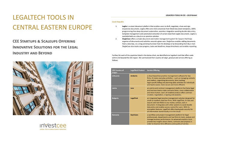 CEE LegalTech Report 2019 - KeyVision PRO, soft pentru avocati